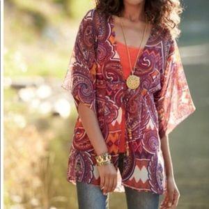 CAbi Paisley Kimono